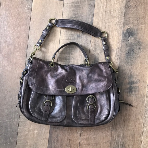 d668b4c7517e01 Coach Handbags - Oil-Rubbed Brown Leather Coach Purse